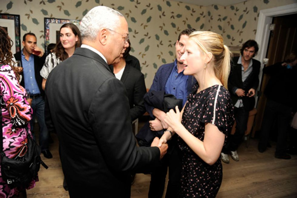 Unlikely Party Pair: Mamie Gummer + Colin Powell