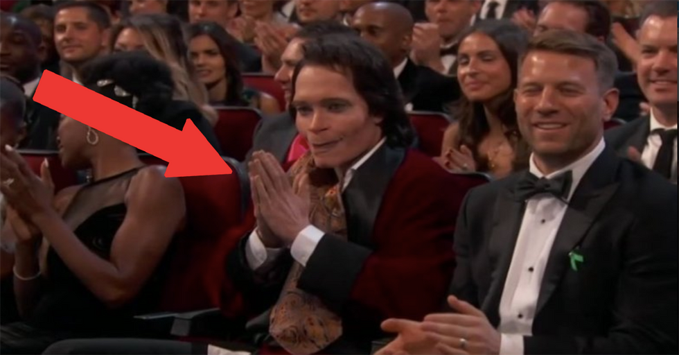 Who Is This Man Sitting in the Front Row of the Emmys?
