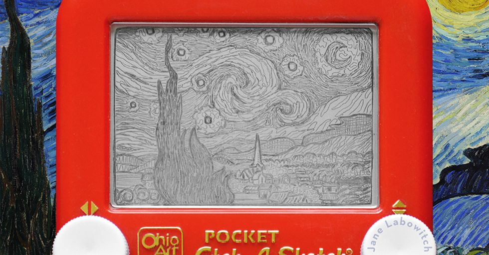 30 Insane Etch-A-Sketch Masterpieces That Will Blow Your Mind