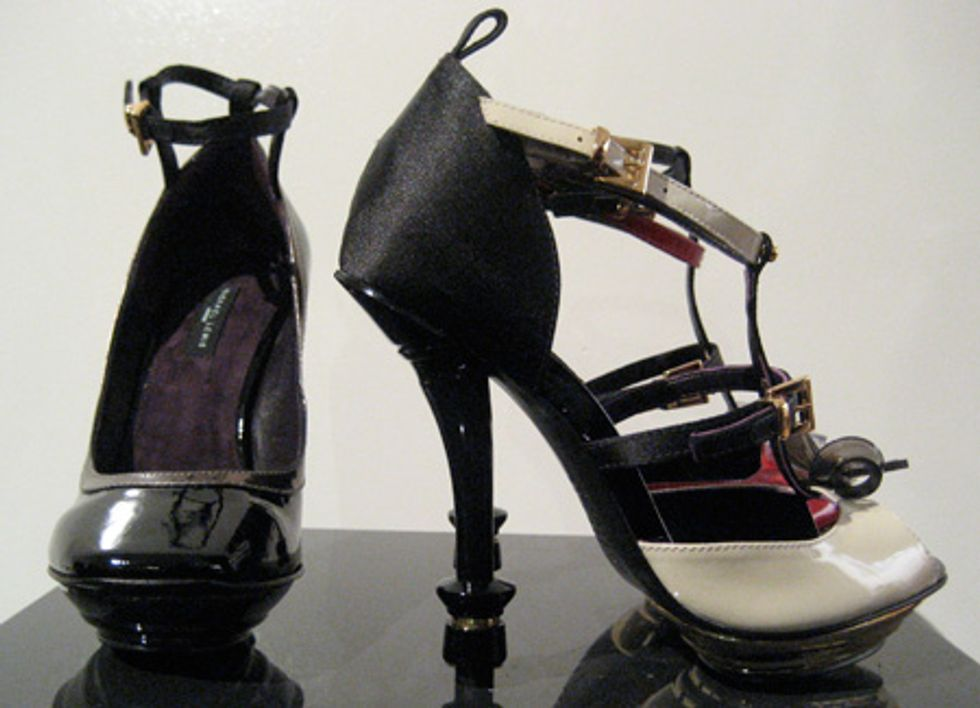 Checkmate! Michael Lewis' Pretty, Chess Piece Heels