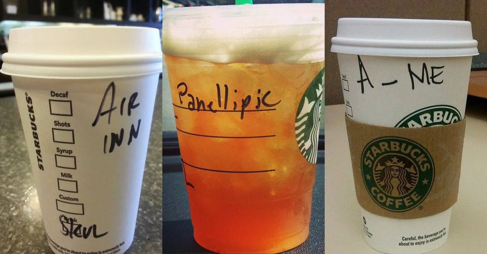 Starbucks Baristas Who Honestly Just Gave up on Spelling People's Names Correctly
