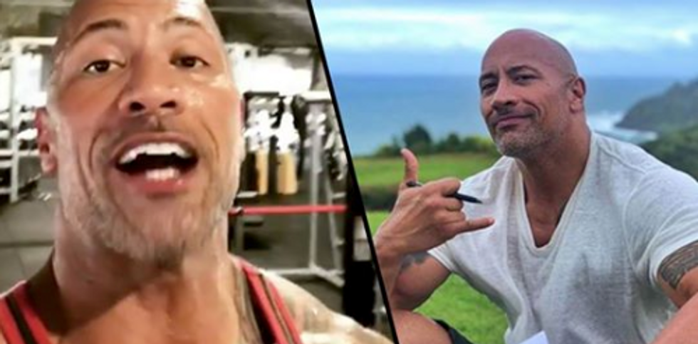 Dwayne Johnson Shows Incredible Results Of 18 Weeks Of Dieting And Training