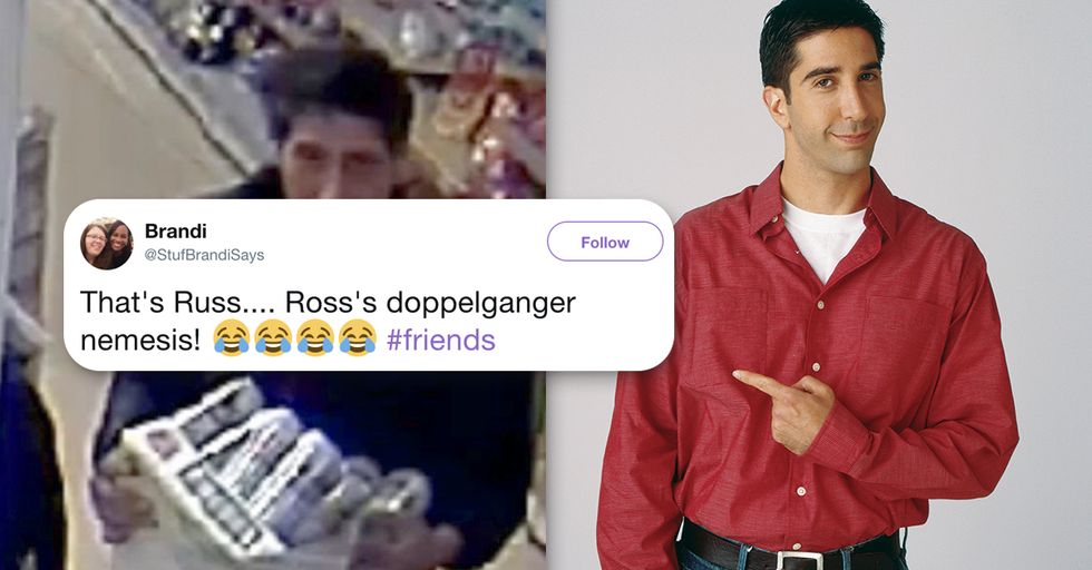 Man Who Looks Exactly Like Ross From 'Friends' Caught Stealing Beer