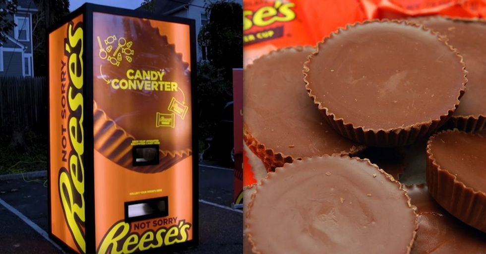Halloween Vending Machine Lets You Trade Unwanted Candy for Reese's Cups