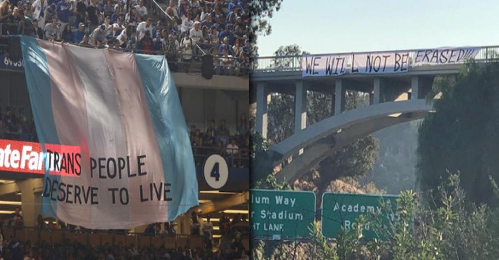 Fans Fly Huge Transgender Flag at World Series Game