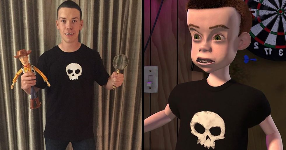 Will Poulter Dresses As Sid From Toy Story For Halloween