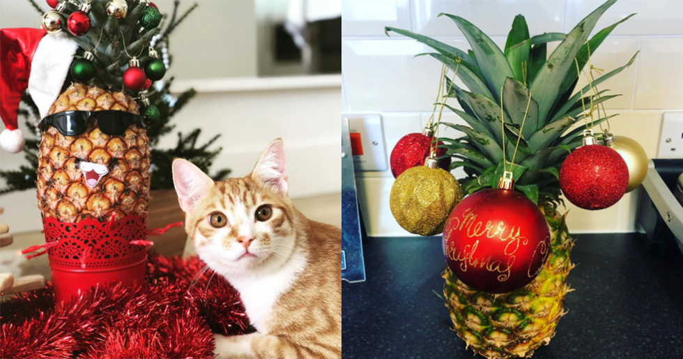 Pineapple Christmas Trees Are the Newest Festive Decoration