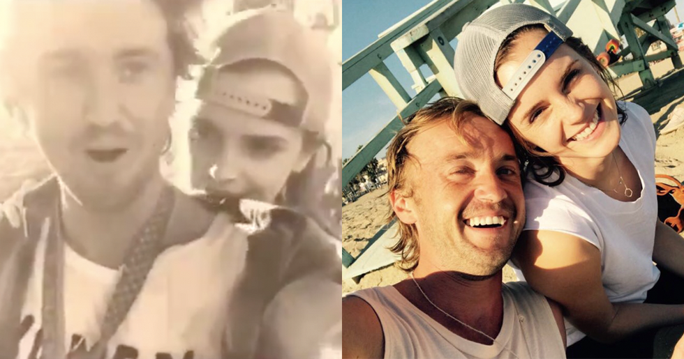Emma Watson and Tom Felton Take Intimate Selfie, Sparking Dating Rumors