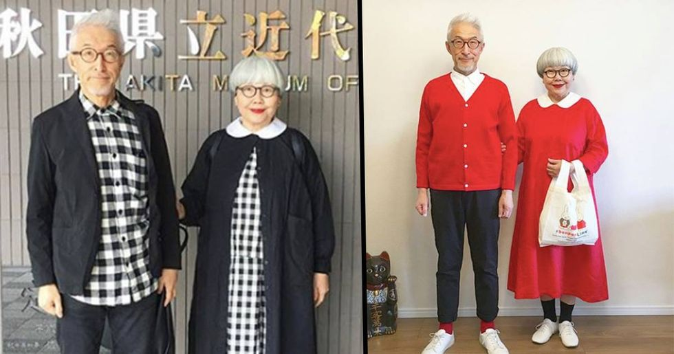 Japanese Couple Married For 38 Years Wear Matching Outfits Every Day