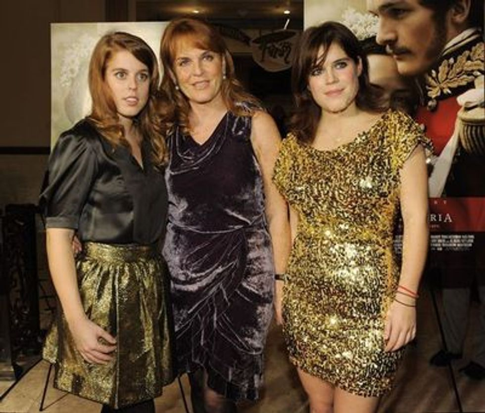 Sarah Ferguson and the Princesses at the L.A. Premiere of Young Victoria