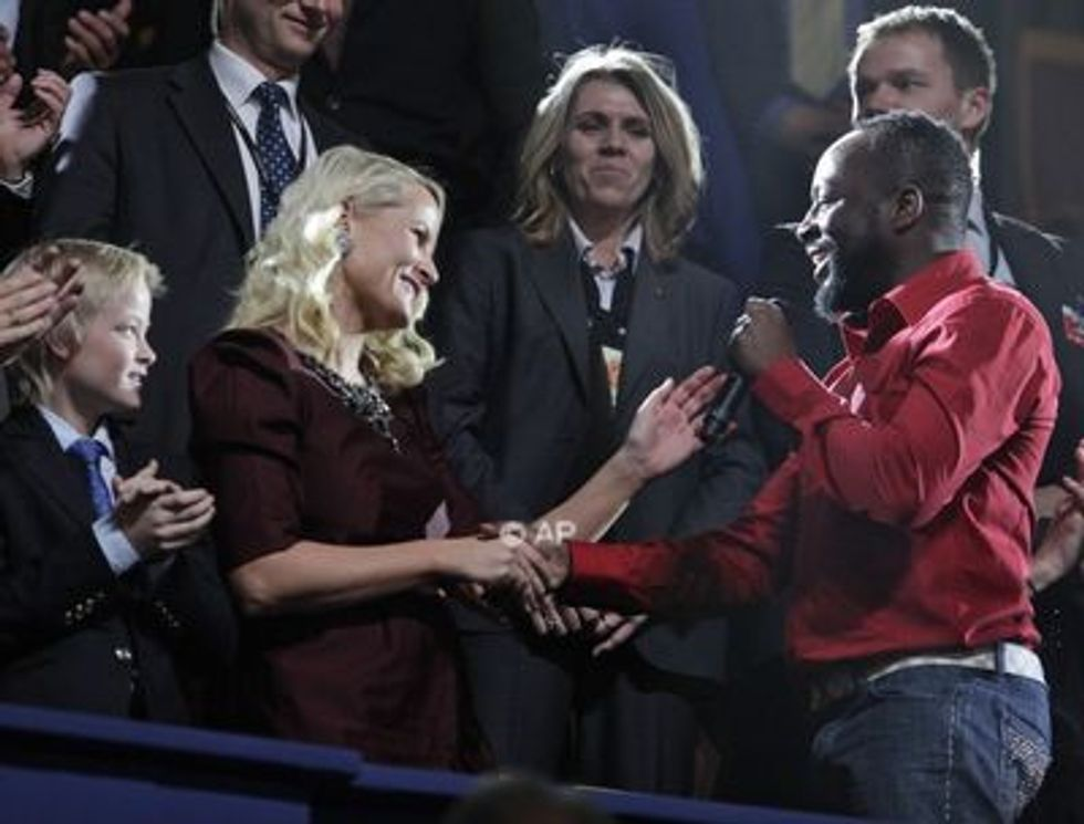 Cutest Couple at the Nobel Prize Celebrations: Crown Princess Mette-Marit and Singer Wyclef Jean