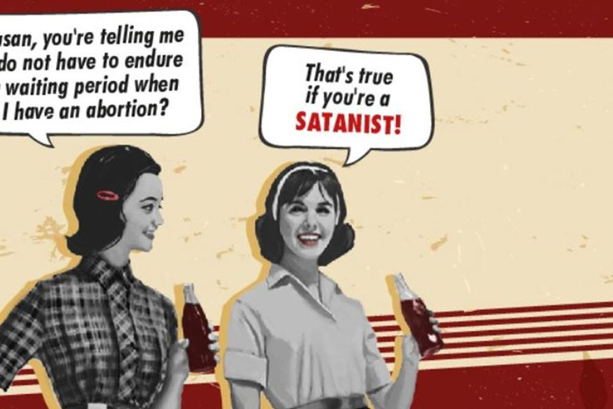 Satanists put up a billboard in Florida promoting state's abortion law loophole