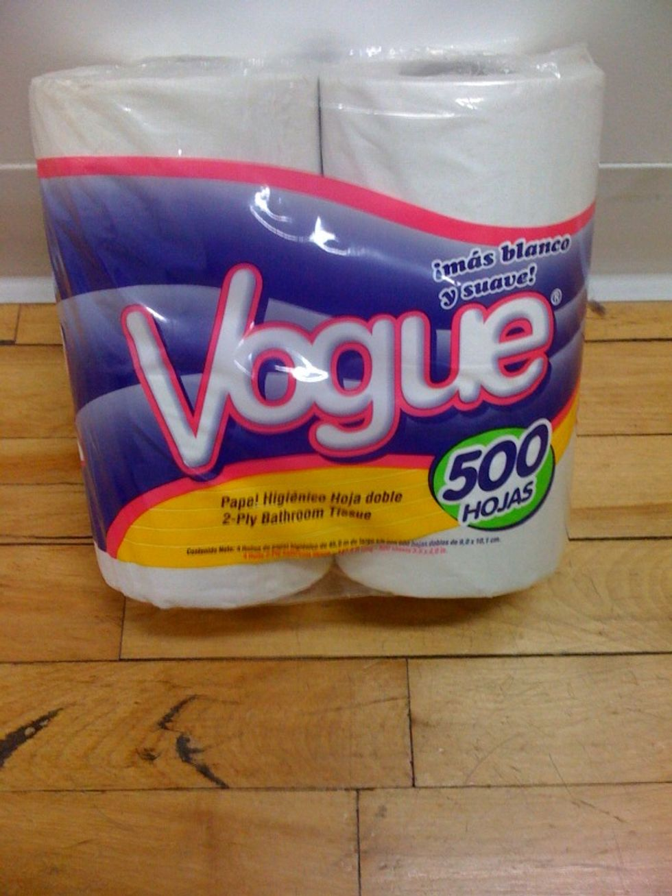 For the Chic Set's Bathroom Needs: Vogue Toilet Tissue