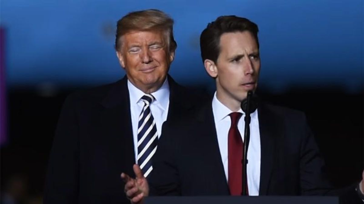 'Trump without the stupidity': Columnist warns Josh Hawley is the president's heir apparent