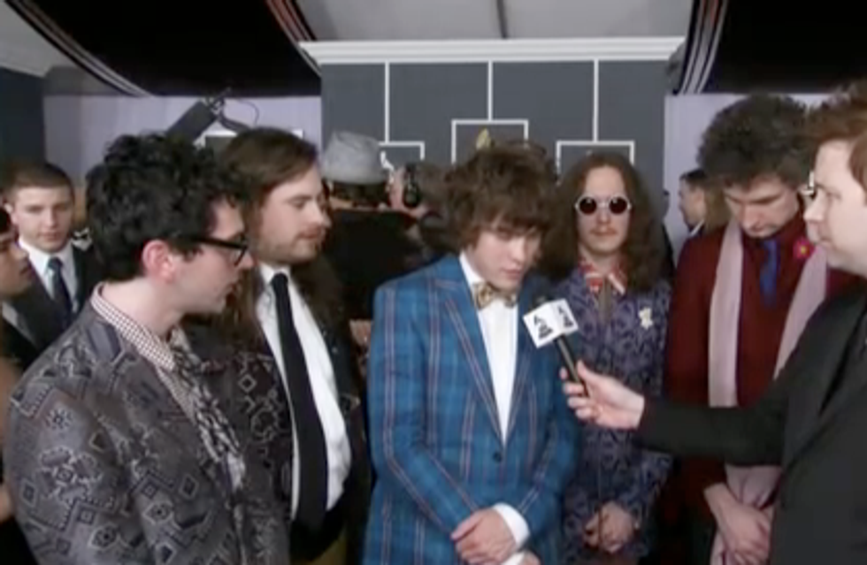 MGMT Make a Funny at the Grammys
