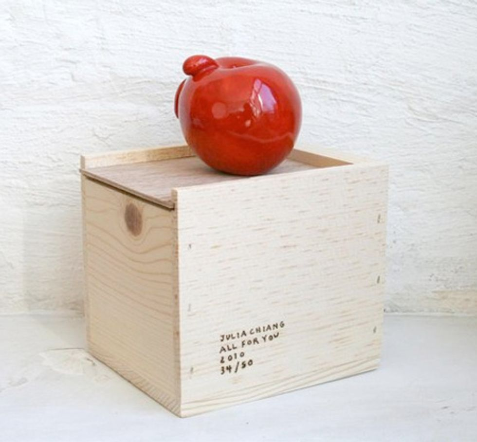 Artist Julia Chiang Sells Apples at The Standard Shop NYC