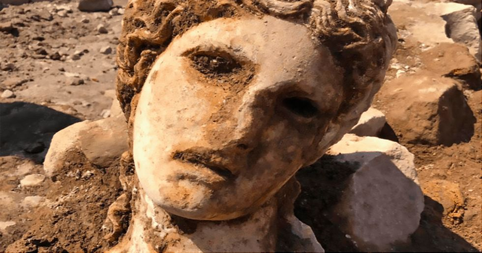 2,000-Year-Old Marble Bust of Wine, Dance and Fertility God Excavated in Rome