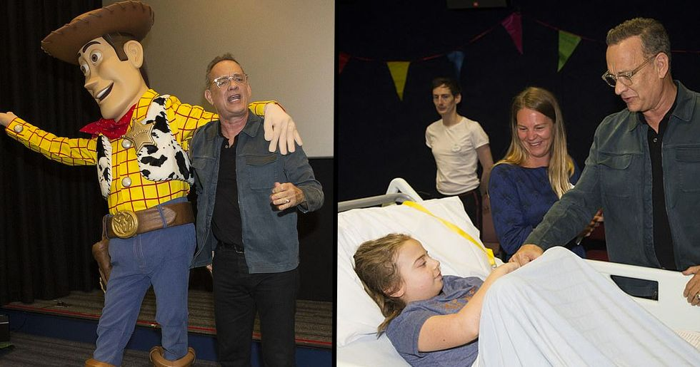 Tom Hanks Treats Child Patients to a Special Screening of Toy Story 4