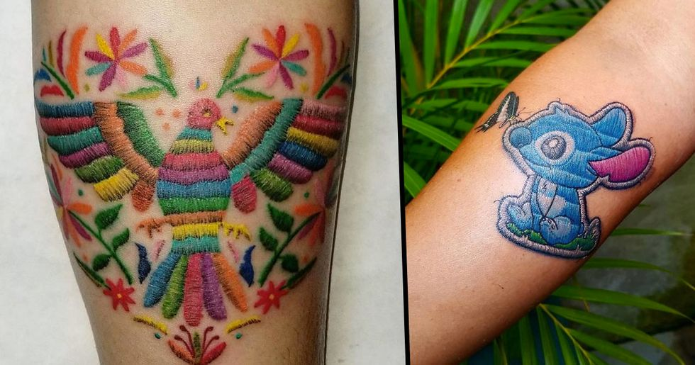 Embroidery Tattoos Are Now A Thing And They Look Awesome