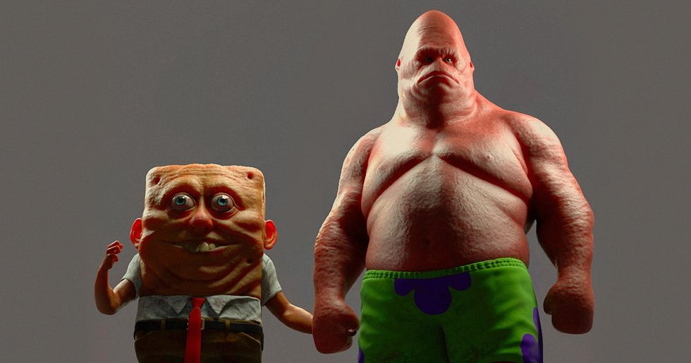 This Artist Creates Terrifying 3D Art of Your Favorite Cartoon Characters