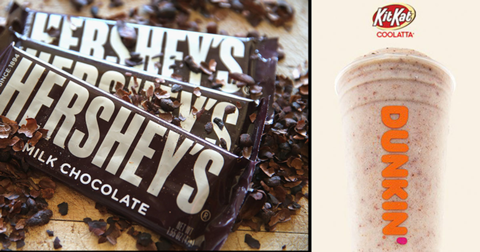 Kit Kat and Hershey's Cookies 'n' Creme Iced Coffees Are Coming to Dunkin' This Summer