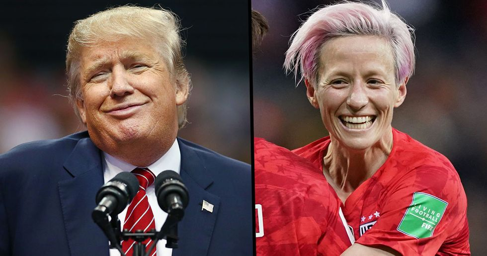 Donald Trump Tells US Women's World Cup Captain to Win First Before She Talks
