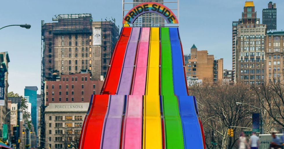 Go Down a Giant Rainbow Slide Outside the Flatiron Building for Pride