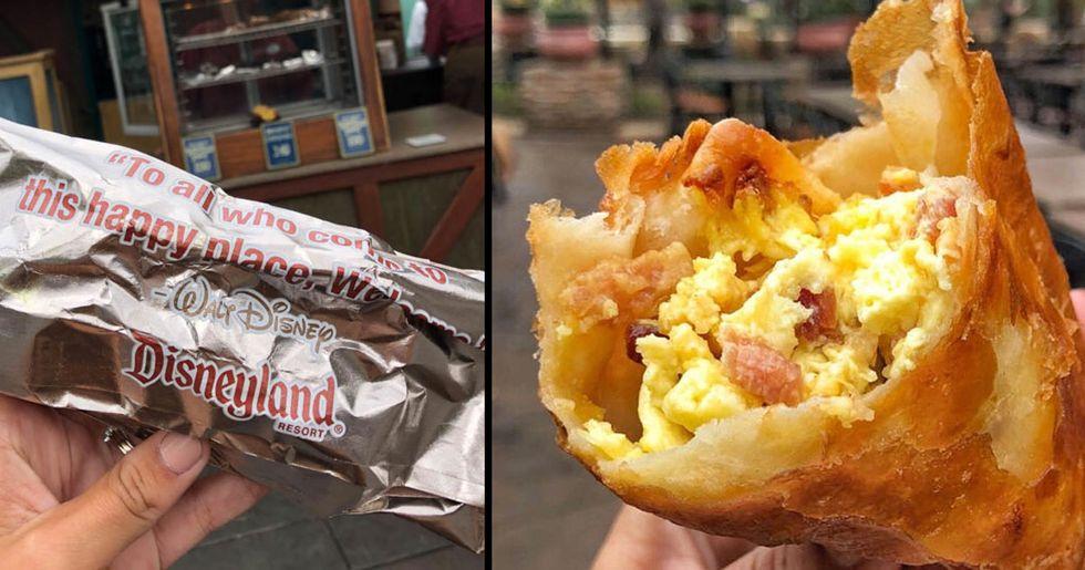 Disneyland Launches Deep Fried Breakfast Burritos