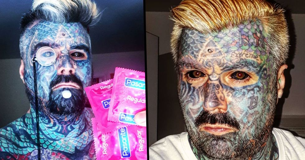 Most Tattooed Man in UK Calls Women 'Shallow' for Rejecting Him
