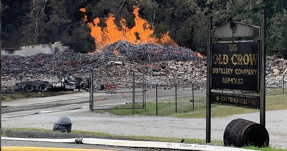 Fire at Jim Beam Warehouse Burns 45,000 Barrels of Bourbon