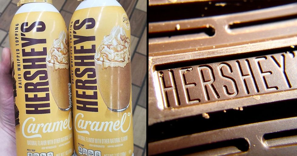 Hershey's Is Now Selling Caramel Flavored Whipped Cream