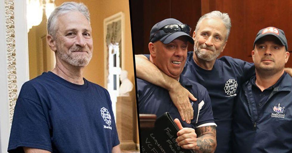 Jon Stewart Celebrates Passage of 9/11 First Responders Bill