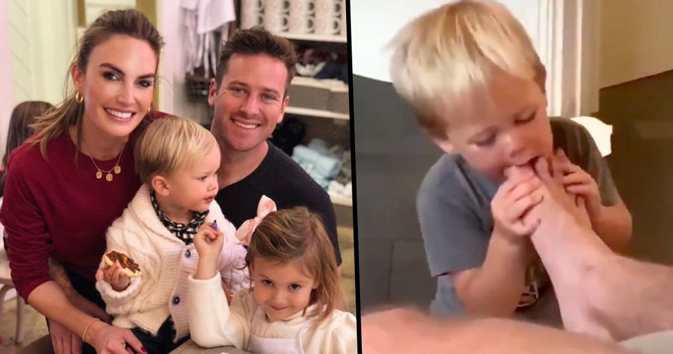 Armie Hammer's Wife Responds After Video of Their Son Sucking His Toes Goes Viral
