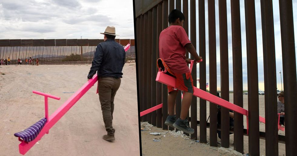Someone Installed See-Saws at Mexico-U.S. Border so Kids Can Play Together