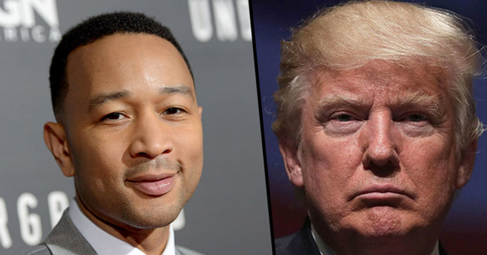 John Legend Slams Donald Trump as 'Racist Piece of Sh*t' After President's Baltimore Rant