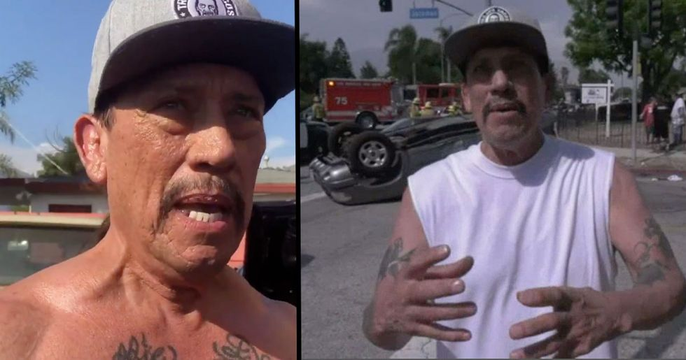 Danny Trejo Saves Baby Trapped in Overturned Vehicle