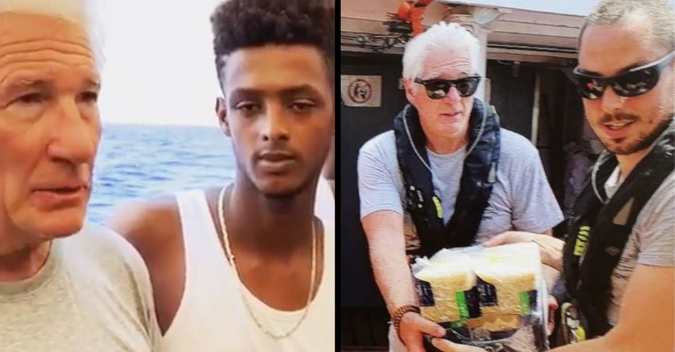 Richard Gere Saves 121 Refugees Stranded in the Middle of the Mediterranean Sea