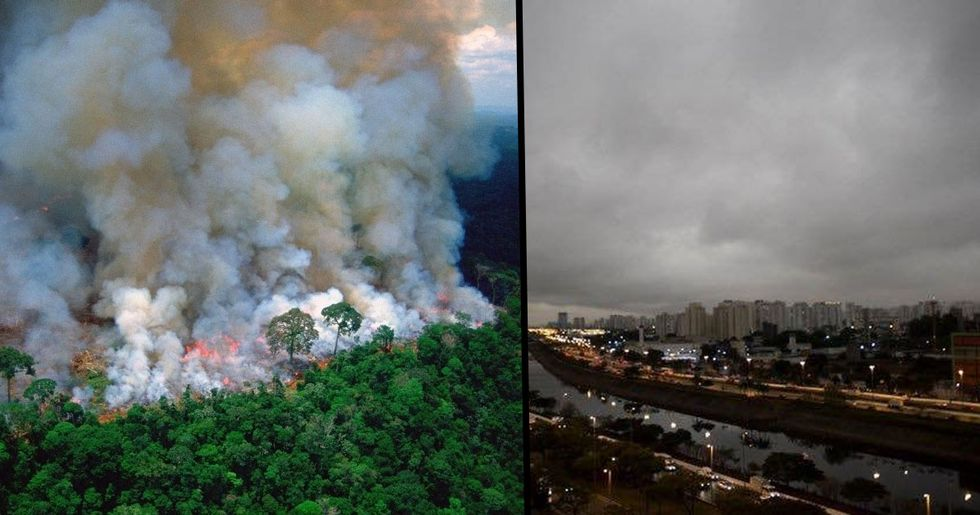 The Amazon Forest Fires Are so Big Sao Paulo Has Been Plunged Into Darkness