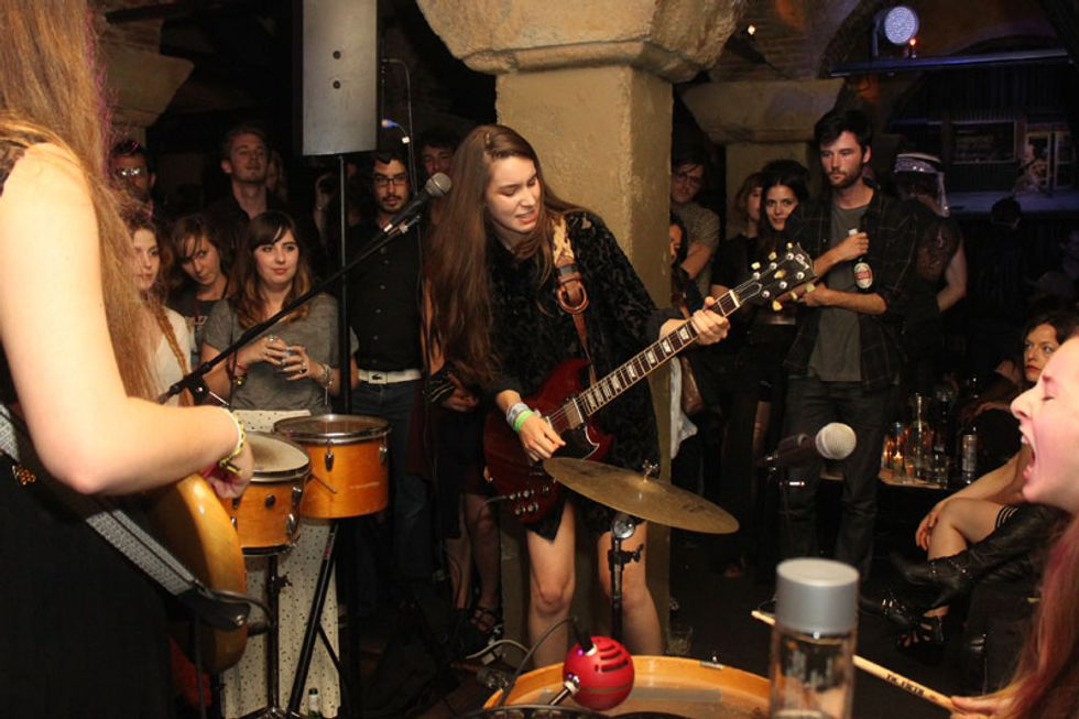 About (Last Friday) Night: Sister Trio Haim Performs at Teddy's in L.A.