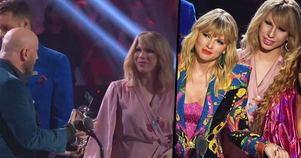 John Travolta Confuses Taylor Swift With Drag Queen Lookalike at VMAs