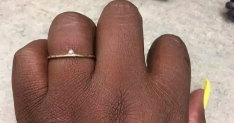 Bride-To-Be Mocks Tiny Diamond Engagement Ring Bought by Fiancé
