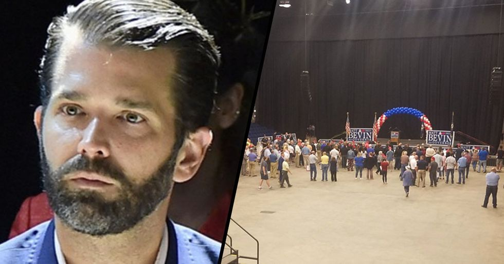 Donald Trump Jr. Mocked For Speaking to Almost Entirely Empty Arena