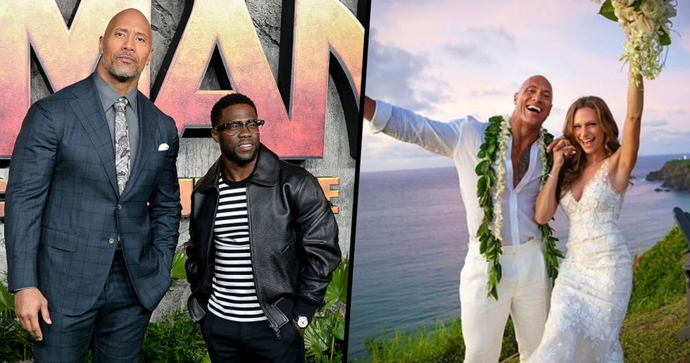 Dwayne Johnson Ends Honeymoon Early to Support Kevin Hart