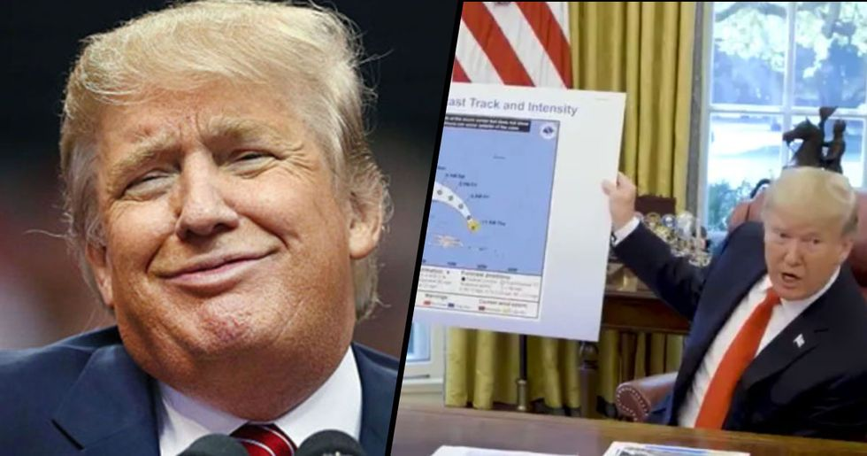 Trump Presented Fake Hurricane Dorian Map to Support His False Claims It Would Hit Alabama