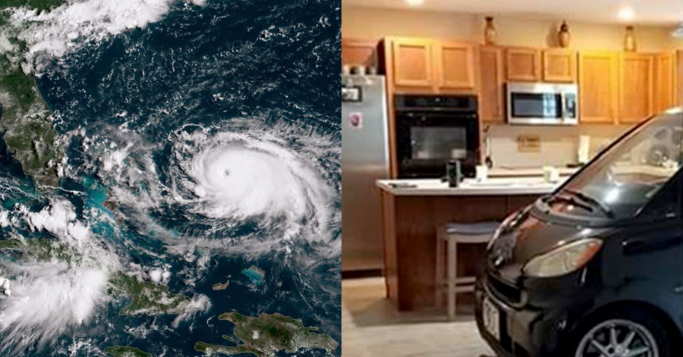 Florida Man Parks Smart Car in Kitchen to Keep It Safe During Hurricane Dorian