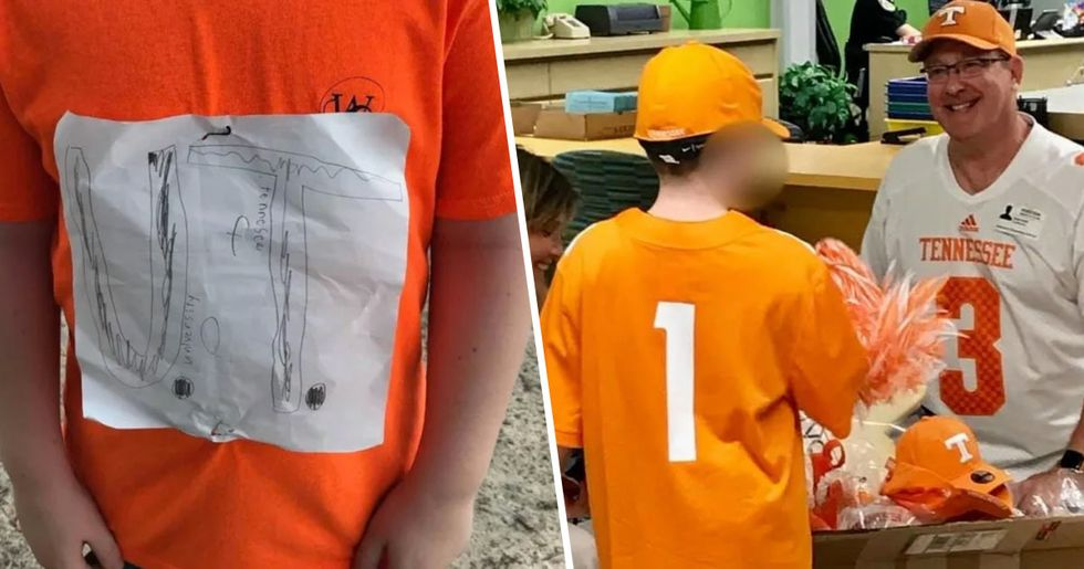 University Turns Fourth-Grader's Hand Drawn Logo Into Official T-Shirt