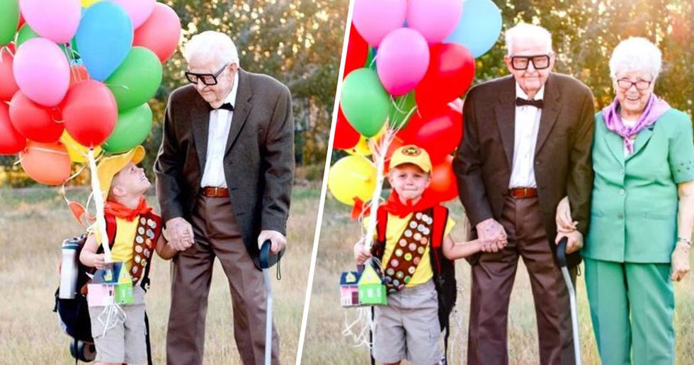 5-Year-Old Boy Has 'Up' Photoshoot With 90-Year-Old Great Grandparents