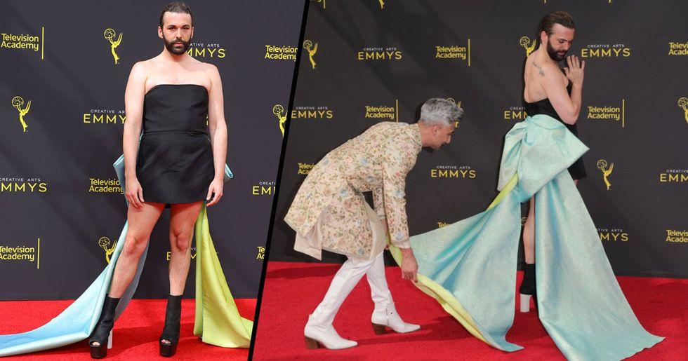 Jonathan Van Ness Won the Emmy Awards Red Carpet With Stunning Dress