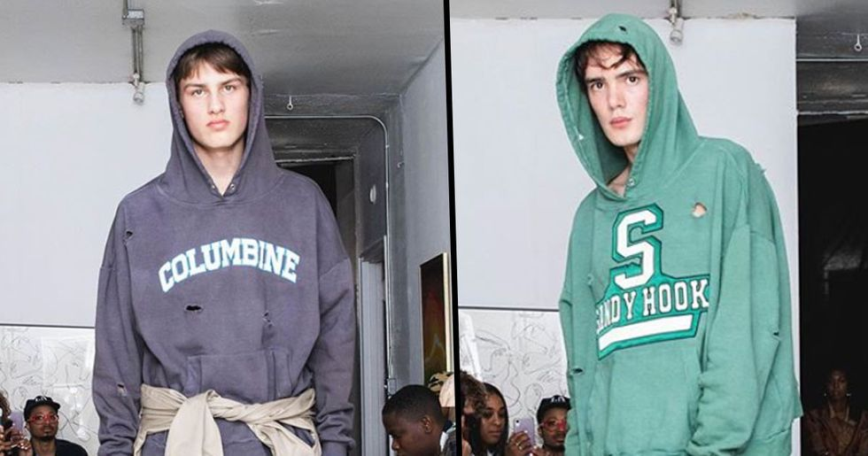Fashion Brand Launch School Shooting Hoodies Which Include Bullet Holes