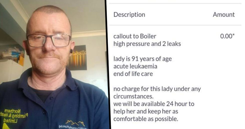 Plumber Fixed Boiler of 91-Year-Old Terminally Ill Woman for Free
